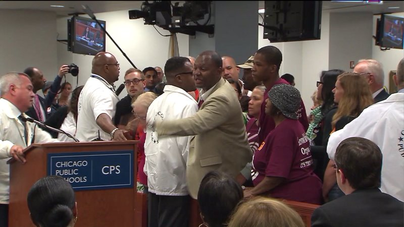 Despite heated meeting and protests, CPS approves largest school closure in city`s history