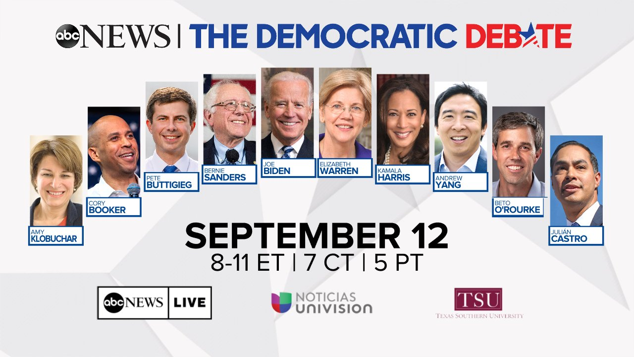 Final lineup set for ABC Democratic primary debate; de Blasio, others miss cut