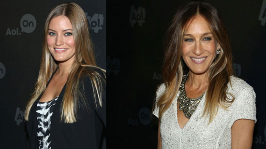 Sarah Jessica Parker and iJustine at the AOL New Fronts