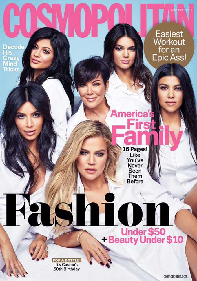 Twitter Is Mad as Hell About This Kardashian-Jenner Cosmopolitan Cover