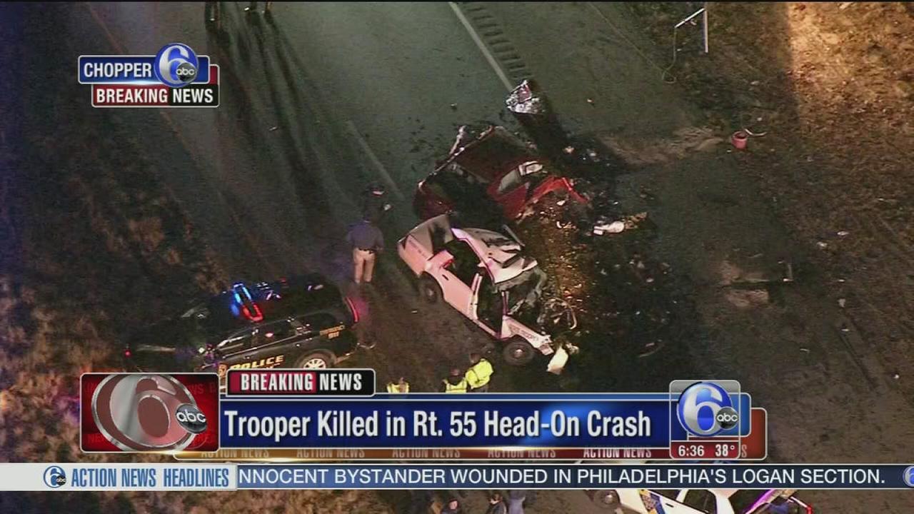 Head-on crash leaves NJ state police trooper, other driver dead