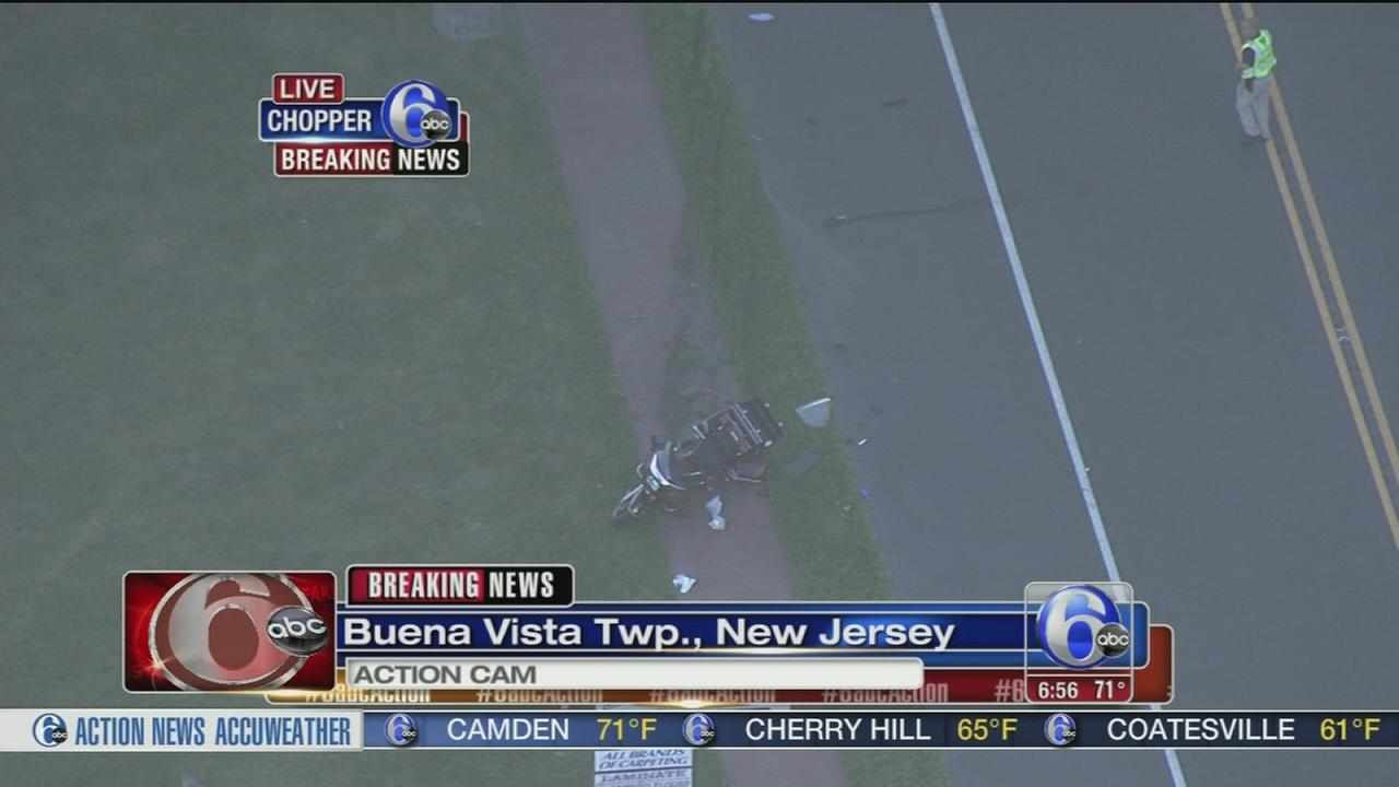 2 hurt after motorcycle crashes in Buena Vista Twp., N.J.