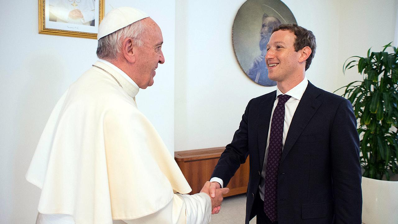 Pope Francis meets Facebook's Mark Zuckerberg at the Vatican