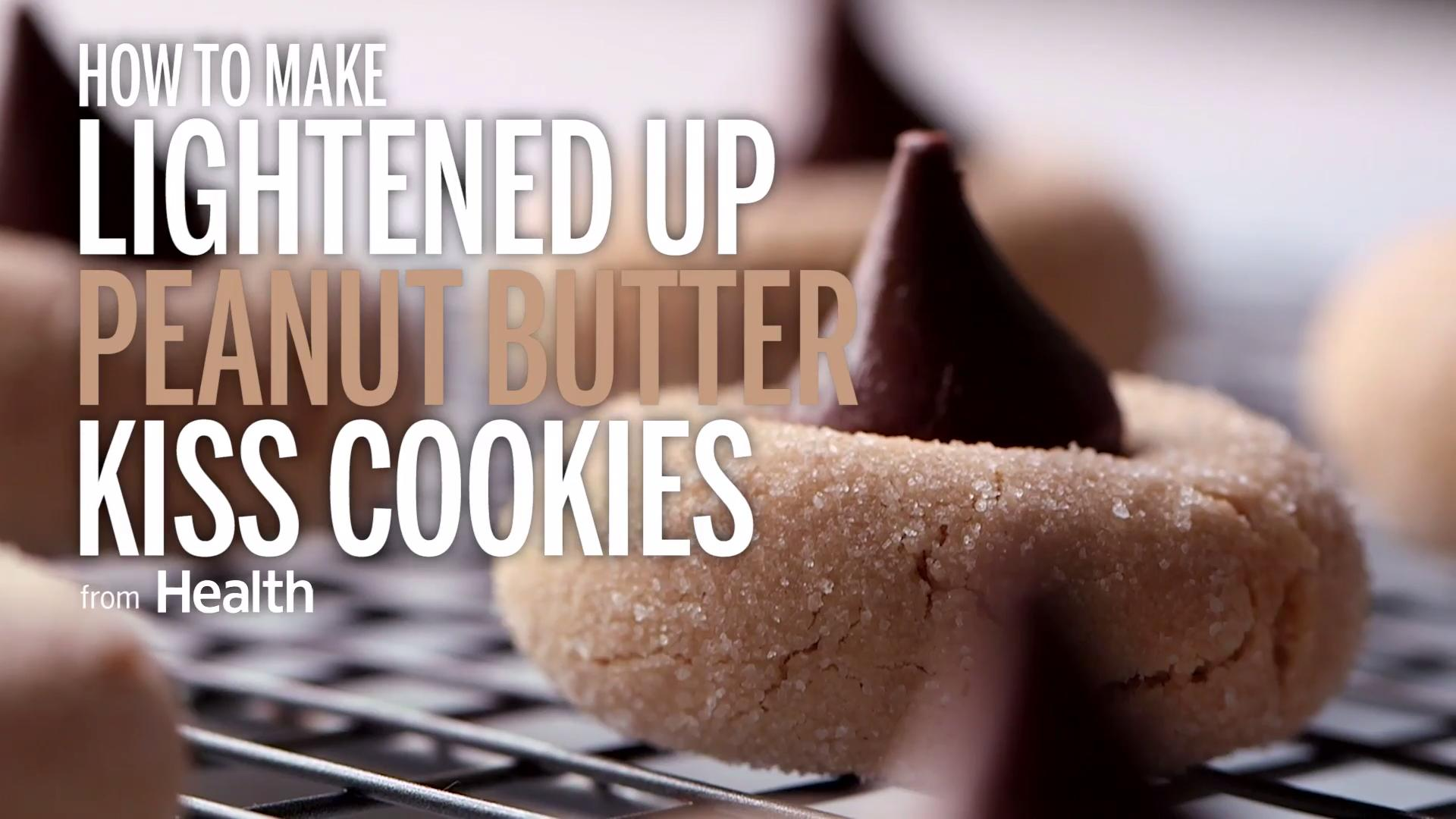 How to Make Lightened Up Peanut Butter Kiss Cookies