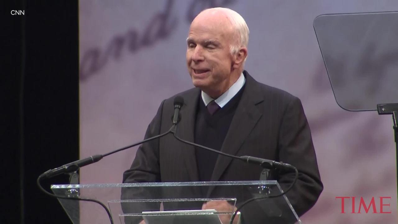 Read the Full Text of John McCain's Speech at the Liberty Medal Award Ceremony