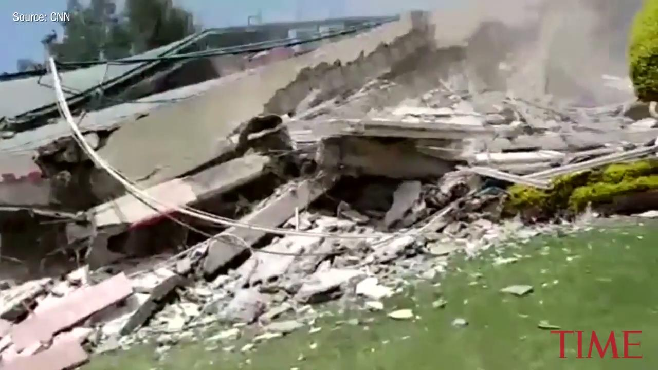'We Can Hear Small Noises.' Video Shows Rescue Effort After Mexico School Collapses in Earthquake