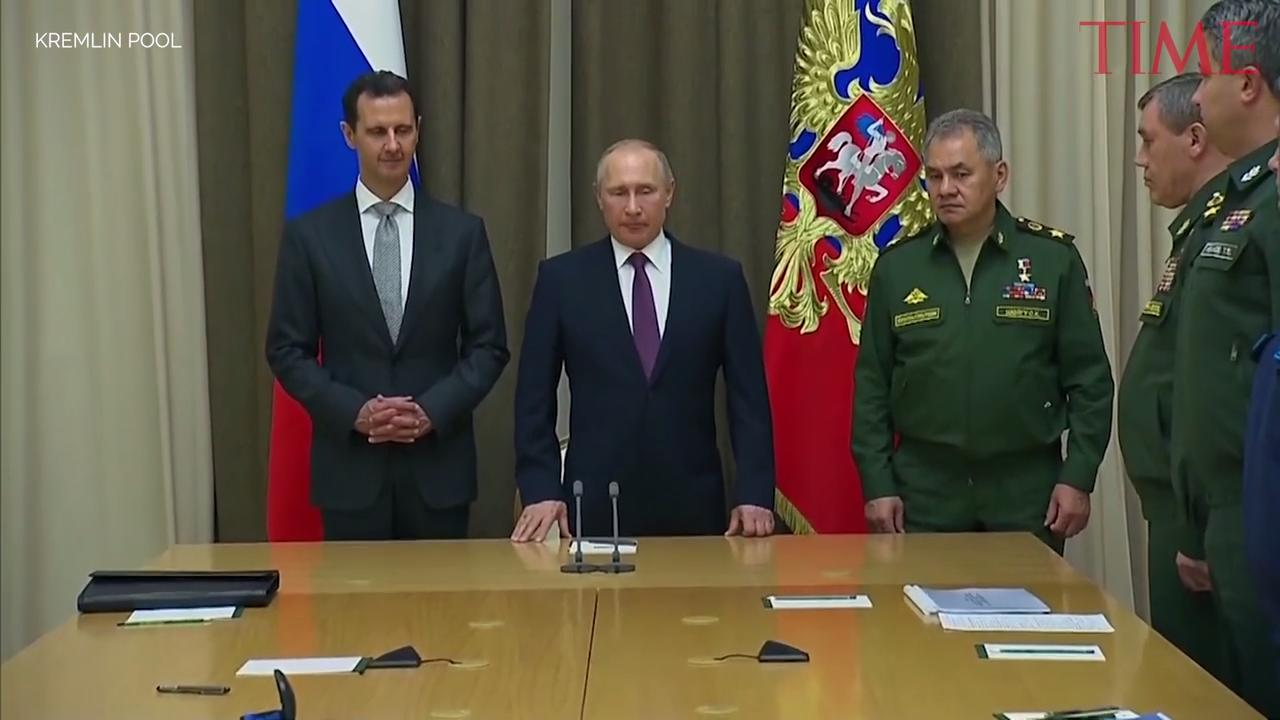 Putin Says Russia Will End its Military Operation in Syria After Surprise Talks With Assad