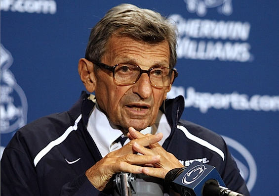 Joe Paterno opens Season 46 as Penn State's eye in the sky
