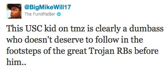 Former USC receiver Mike Williams blasts Marc Tyler on Twitter