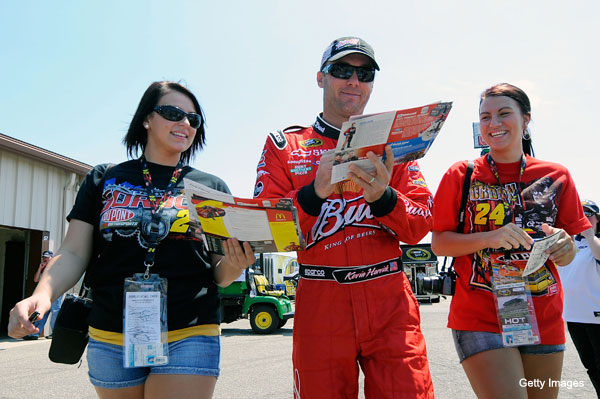 "Create-a-caption: 'Can you sign it, ""Kyle Busch stinks!""?'"