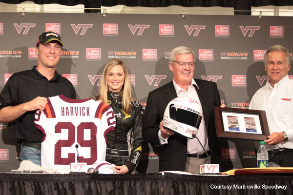 Kevin Harvick visits Virginia Tech, trades hit techniques