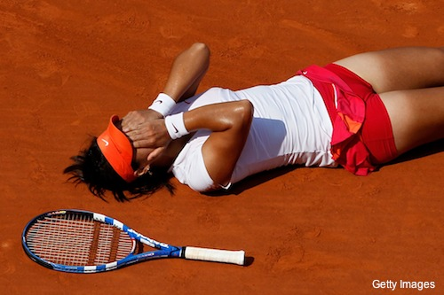 li na on ground fo11