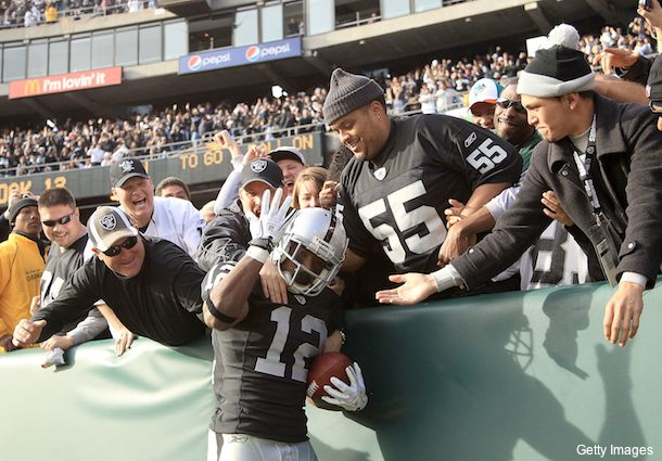 Your Oakland Raiders have a brand-new, silly stadium brand. oakland-celebration