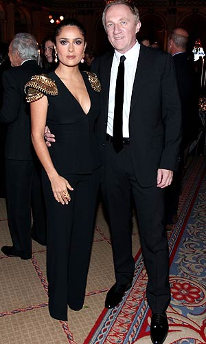 Salma Hayek and Francois Pinault in NYC, November 1, 2010. - Donald Bowers/WireImage.com