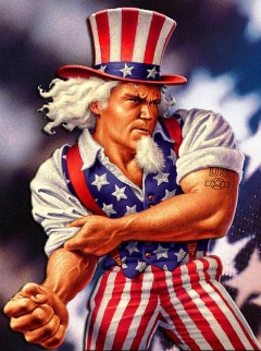 uncle sam fight