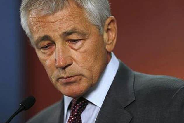 "U.S. Defense Secretary Chuck Hagel says ""the Department of Defense intends to make the same benefits available to all military spouses—regardless of sexual orientation—as soon as possible."" (Jason Reed/Reuters)"