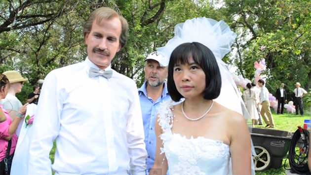 "Rick Roberts and Sook-Yin Lee star as Jack Layton and Olivia Chow in CBC's ""Jack."" (CBC)"