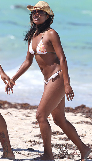 Gabrielle Union's beau is Miami Heat star Dwayne Wade. (Splash)