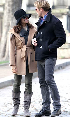 Ryan Gosling and Eva Mendes in Paris.Splash News