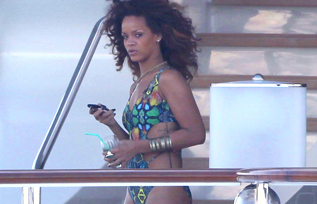 Rihanna kicked back in Saint-Tropez last August. (Splash News)