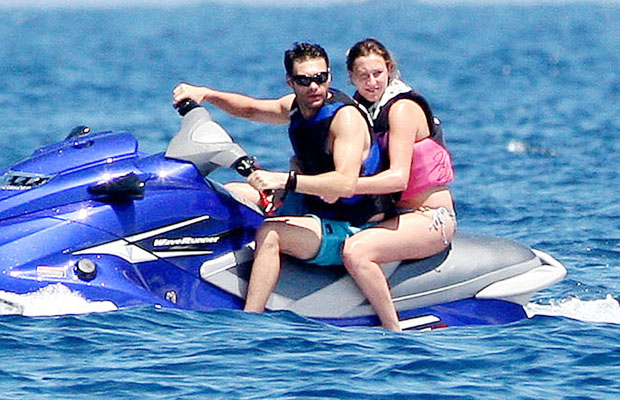Ryan and his sister cruise the Riviera. (DLM Press/PacificCoastNews.com)