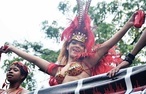 Rihanna returned to her home country of Barbados over the weekend to partake in the celebrations of the island nation's Kadooment Day. - Islandpaps/Splash News