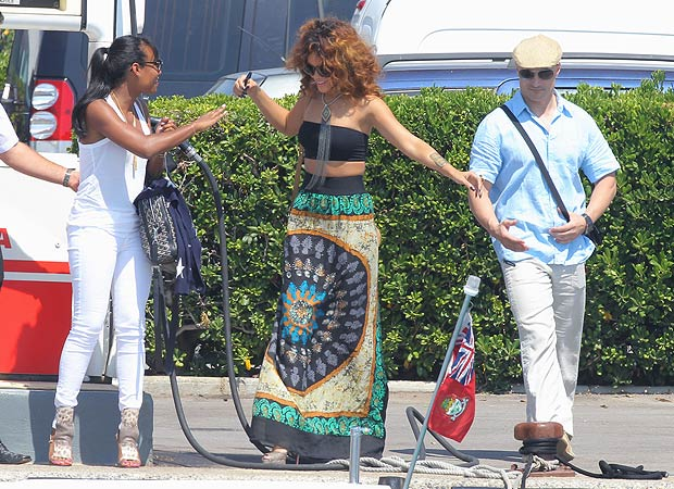 Rihanna vacations in St. Tropez. - Splash News