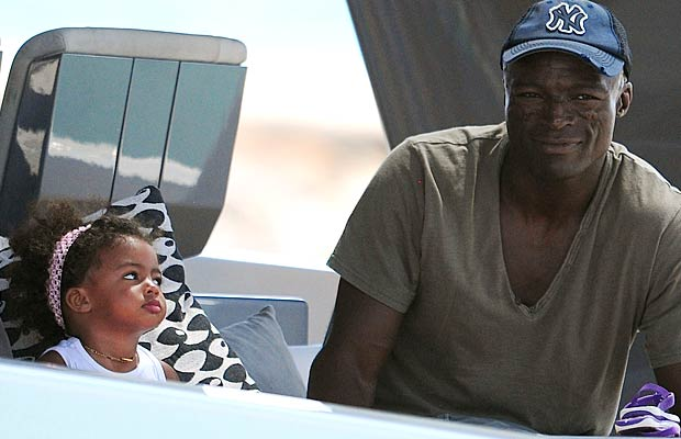 Seal spends some QT with his little girl. - Splash News