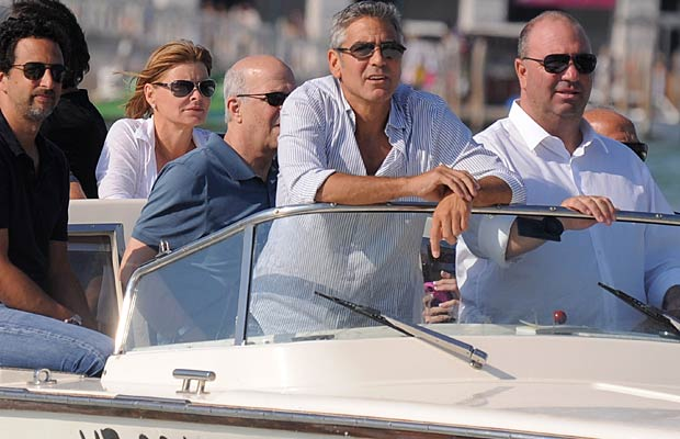 George Clooney arrives in style at the Venice International Film Festival. - Daigoron/Splash News