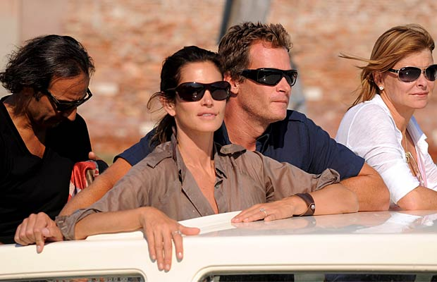 Cindy Crawford and husband Rande Gerber accompany Clooney on the cruise. - Daigoron/Splash News