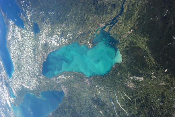 Lake Ontario algal bloom is big enough to be seen from space