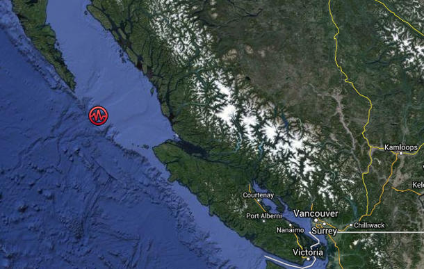 Strong earthquake, aftershocks strike south of Haida Gwaii
