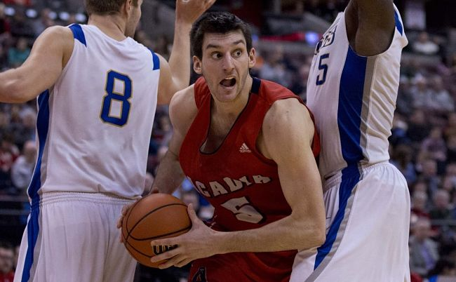 Acadia's 6-foot-10 Owen Klassen was an all-Canadian this season (Chris Roussakis for Yahoo! Canada Sports)