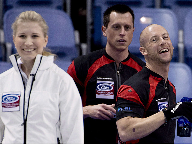 Canadian curling team member Ryan Fry.