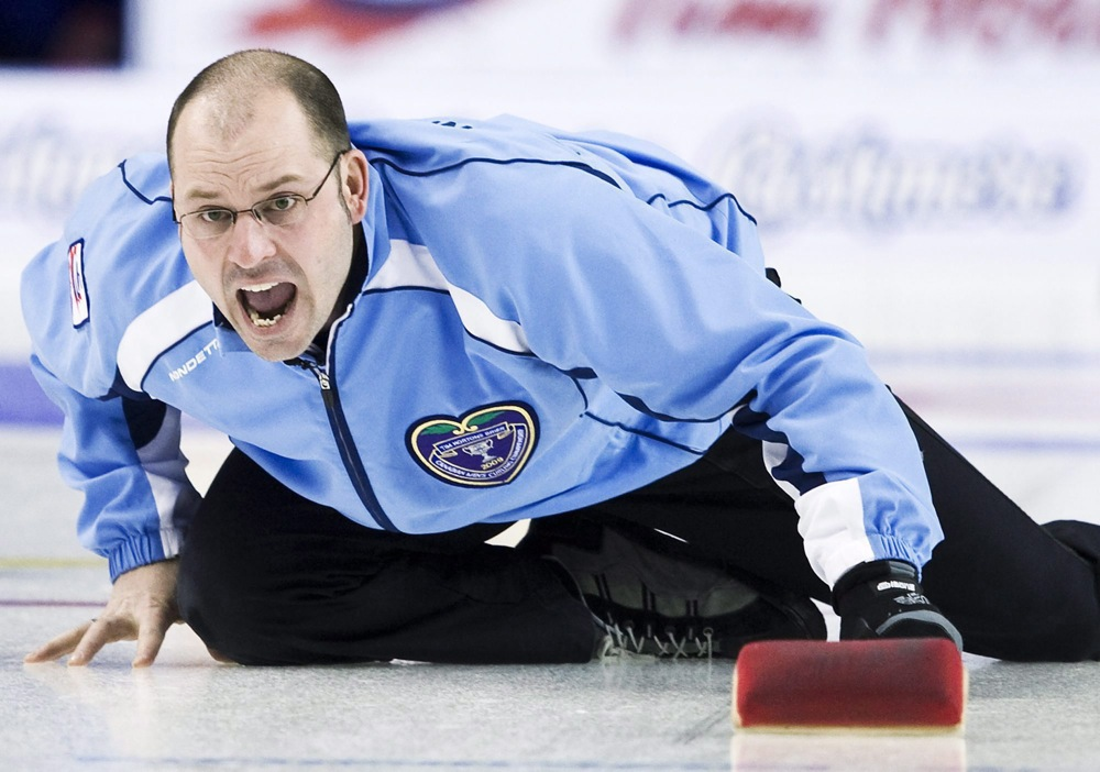 Quebec skip Jean-Michel Menard at the 2009 Brier. (CP)