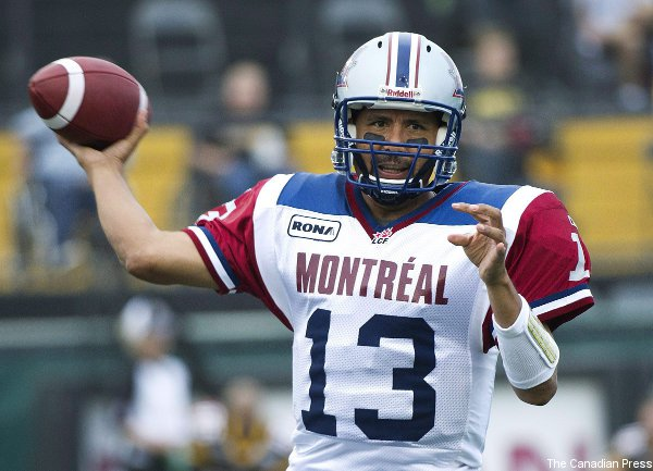 Anthony Calvillo's thumb injury could be concerning for the Alouettes.