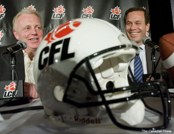 "Ottawa co-owner Jeff Hunt (L) has suggested ""Red Blacks"" might be the new team's name."