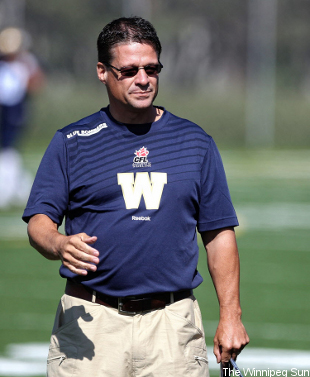 Former Hamilton head coach Marcel Bellefeuille is the new Bombers' offensive coordinator.