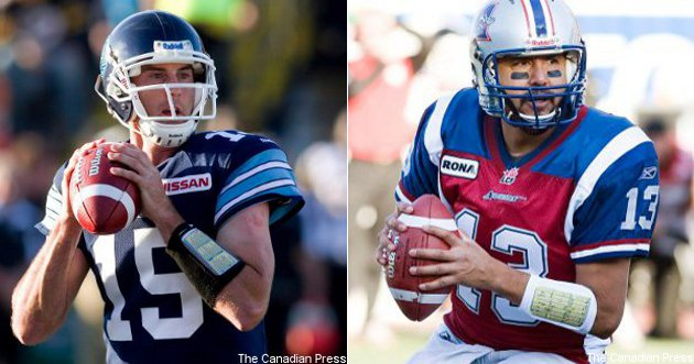 Ricky Ray (L) and Anthony Calvillo have generally lived up to the hype, but their teams haven't.