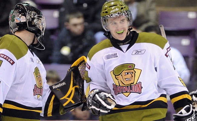 Brampton Battalion right wing Matt MacLeod (OHL Images)