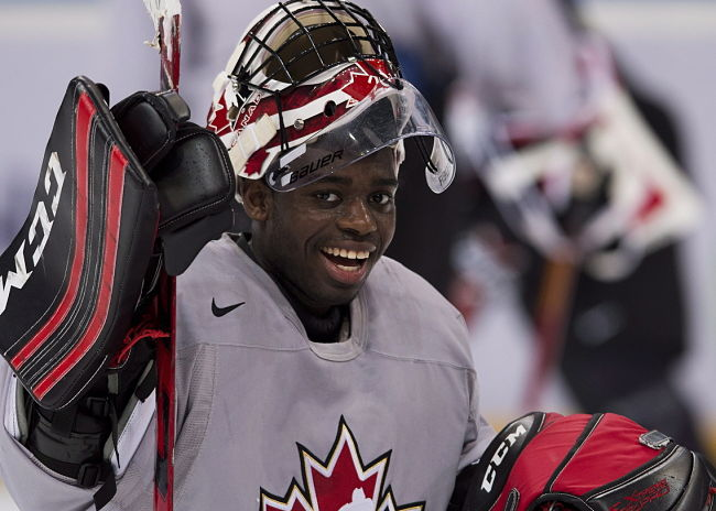 Malcolm Subban had allowed 3 goals in each of Canada's first two games (Nathan Denette, The Canadian Press)