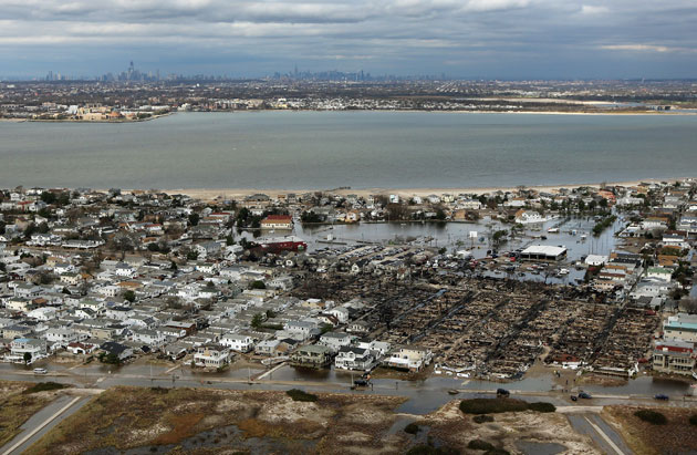 Devastation in the wake of Sandy. (Getty Images)