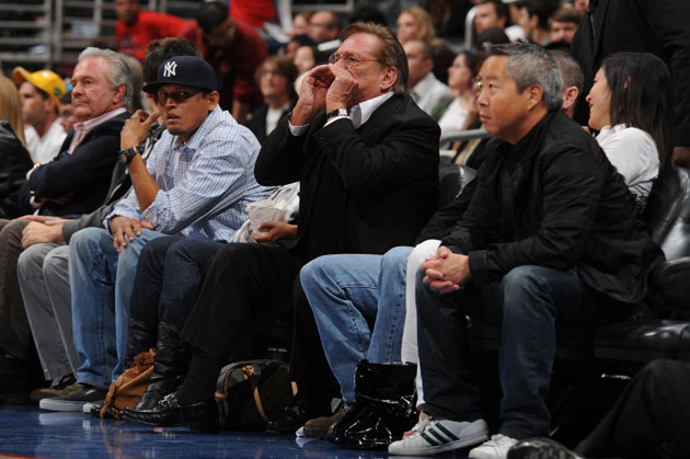 Donald Sterling makes his feelings known. (Getty Images)