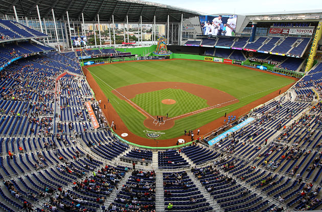 Marlins Park in April. (Getty Images)