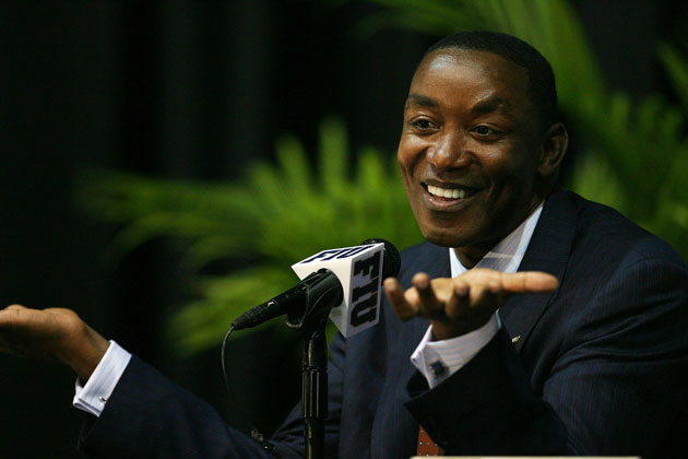 Isiah Thomas, smiling. (Getty Images)