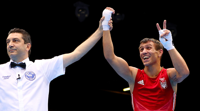 Vasyl Lomachenko (R) won gold medals in 2008 and 2012 (Getty Images)
