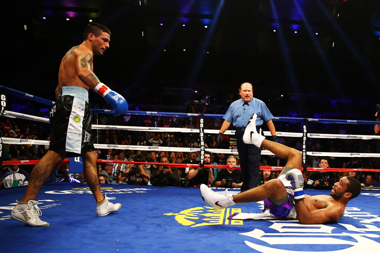 Lucas Matthysse (L) is one of boxing's hardest punchers (Getty Images)