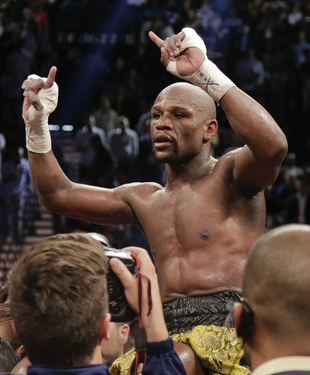 Floyd Mayweather could make $100 million from Saturday's bout (AP)