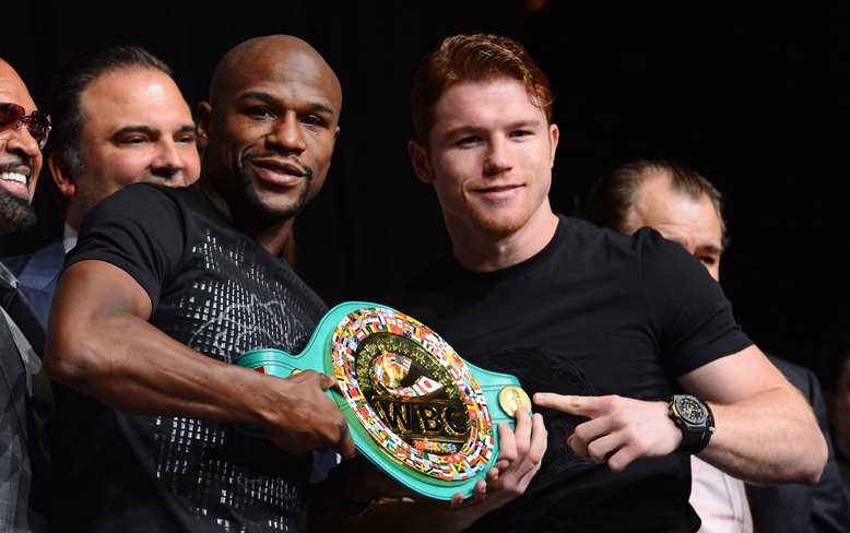 Floyd Mayweather and Canelo Alvarez combined to sell 2.2 million pay-per-views (Getty)