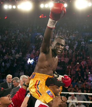 Light heavyweight champ Adonis Stevenson is a burgeoning star (AP)